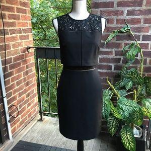 Aidan Aidan Mattox Black Lace Top Dress Size 4